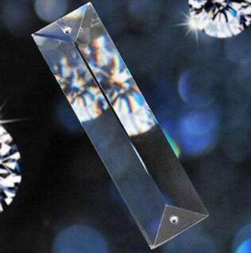 20Pcs Clear Chandelier Glass Crystal Lamp Prism Part Hanging Drop Pendants 76mm