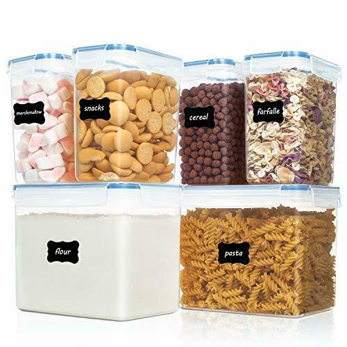Vtopmart Airtight Food Storage Containers Plastic PBA Free Kitchen 6 Pieces New
