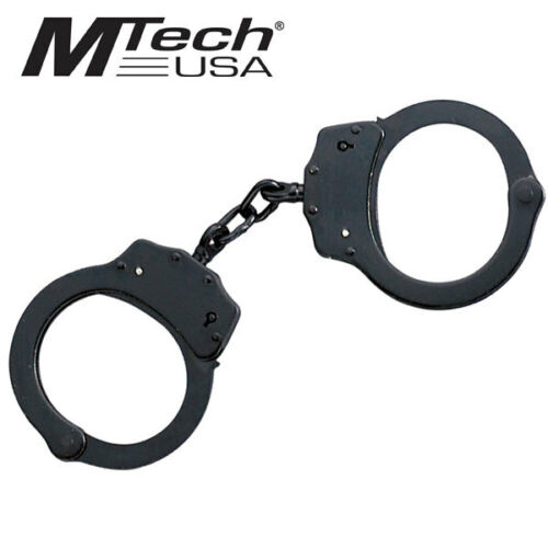 MTECH TACTICAL PRO QUALITY HANDCUFF DOUBLE LOCKING TWO KEYS MADE IN TAIWAN