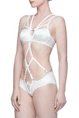 Women's Clothing Nichole De Carle Westminster Ivory Silk Bra & Brief Set Quality First