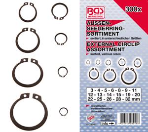 300 CIRCLIP EXTERIEUR ASSORTIS BGS Technic