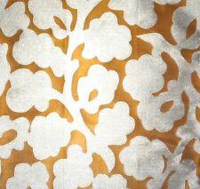 MANUEL CANOVAS Bastide Orange Cream Floral Woven Arabesque Remnant New