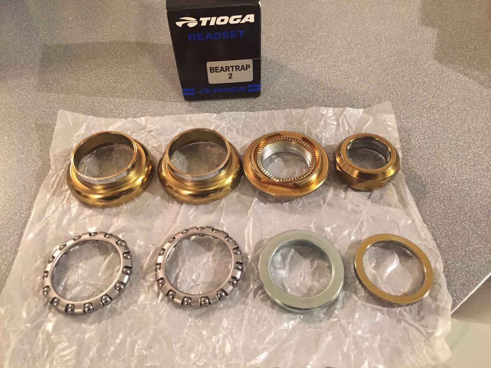 OLD SCHOOL BMX TIOGA BEARTRAP 2  HEADSET gold 1  threaded NEW tange gt  online sales