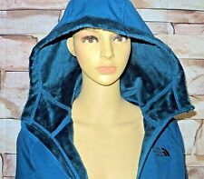 $179 Women The North Face SILKY JACKET COAT HOODIE Windwall SoftShell BLUE XS