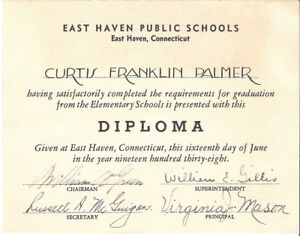 image is loading rare 1938 east haven conn elementary school diploma