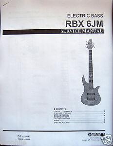 yamaha rbx 6jm electric bass guitar service manual and parts list rh ebay com Yamaha Bass Guitar Design Bass Guitar Yamaha R