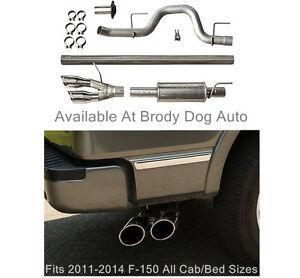 3.5L 2011-2014 5.0L Side Exit Roush 421711 F-150 Cat-Back Exhaust for 6.2L