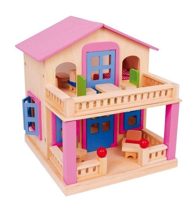 Casa delle bambole Clara completa di mobili - Legler casetta 1167