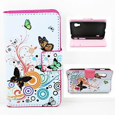 Magnetic Card Leather Stand Holster Cover Case For LG Optimus L5 II Dual E455