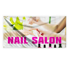 Nail Salon 2 Outdoor Advertising Printing Vinyl Banner Sign With Grommets