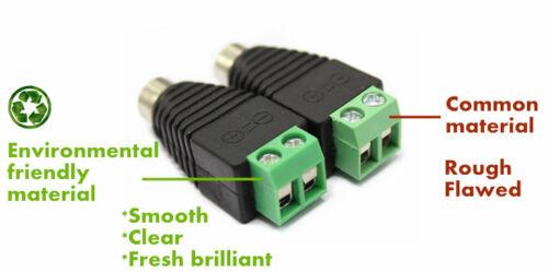 10 Female CCTV LED DC Power Plug Jack Adaptor Connector cat5 RG59 shotgun cable