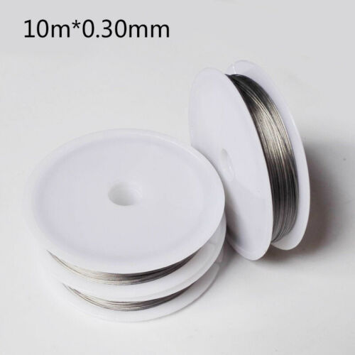 Stainless Steel Wire Lures Leader Trace Fishing Lines Accessories 10m 1 Strands