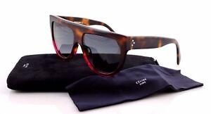 206f2a2ef3c Image is loading NEW-Authentic-CELINE-SHADOW-Ladies-Havana-Fuchsia- Sunglasses-