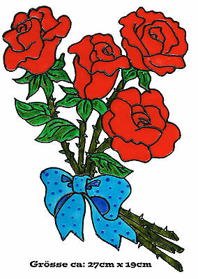 143 Fensterbild Window Color Bild Fensterfolie Rose Rosen Blume