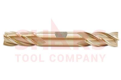 "SHARS 1/4x3/8x5/8x3-3/8"" HSS High Speed Steel 4 Flute Double End Mill NEW"