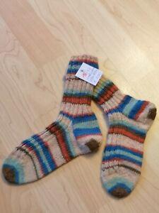 2 PAAR Kinder Bio-Socken Bio-Wollsocken Bio-Baumwollsocken m Umschlag Gr 23-38