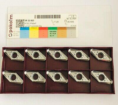 Mit Rechnung!! 10 x Wendeplatten VCGT//VCGX 220530-AL K10 für ALU NEU!