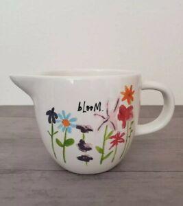 NEW-Rae-Dunn-by-Magenta-BLOOM-Flower-Milk-Jar-Fall-Home-Decor