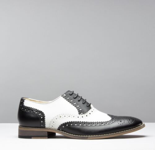 Mister Carlo MONTY Mens Leather Lace Up Formal Dress Evening Brogue Lace Ups