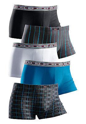 5er Pack His Herren Pants Hipster Slips 485342 Modische Muster