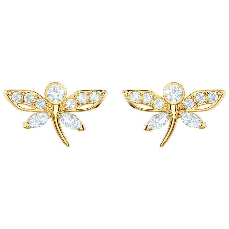 Swarovski MAGNETIC DRAGONFLY STUD EARRINGS Authentic 5429352