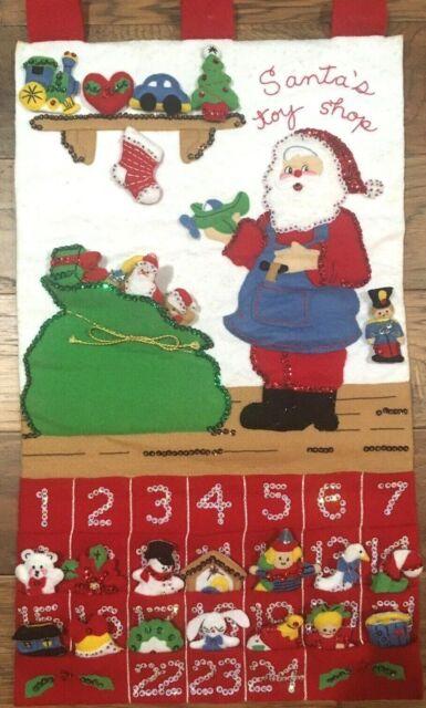 "Santa/'s Beard Bucilla 14x18/"" Felt Advent Calendar Kit"