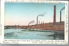 1907 Cotton Mills on Merrimac River Lowell Massachusetts UDB Postcard MA