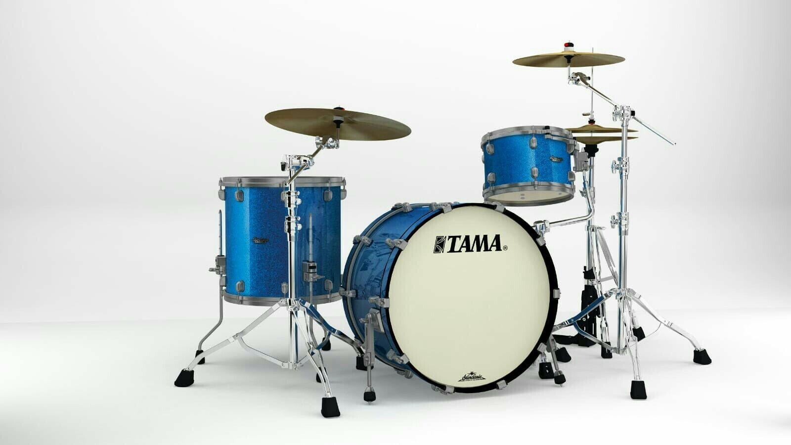 TAMA Starclassic Maple MR32CZUS-VBL Vintage Blau Sparkle Smoked schwarzNickel