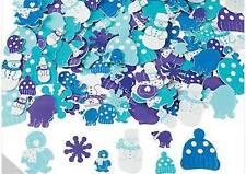 20 Winter Foam Self-adhesive Sticker Snow Flake Mitten Snowman Penguin Bear