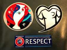 UEFA EURO 2016 Qualifiers Football Soccer Play Respect-Jersey Shirt Patch badge