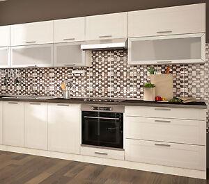 Kuche komplett kuchenblock kuchenzeile 280cm jersey fino for Komplett küchen küchenzeile