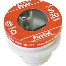 New Bussmann SL-20 20 Amp Time Delay Loaded Link Rejection Base Plug Fuse, 125V