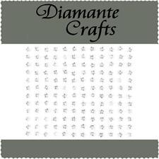 144 x 4mm Clear Diamante Stars Self Adhesive Rhinestone Body Art Vajazzle Gems