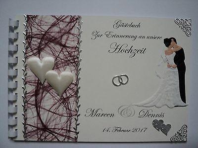 Das Beste Gästebuch/fotoalbum Zur Hochzeit, Hochzeitsbuch, Creme/weinrot, Geschenk, Dina5 Nachfrage üBer Dem Angebot