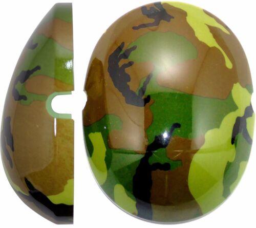 Green Camo Capz By Edz Kidz Kids Ear Defenders NOT INCLUDED