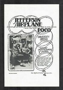 Details about Jefferson Airplane Poco 1972 Albuquerque New Mexico Concert  Handbill Randy Tuten