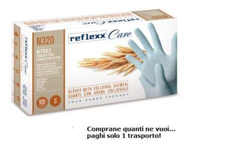 Guanti in Nitrile con Avena Colloidale Reflexx Care N320-100pz