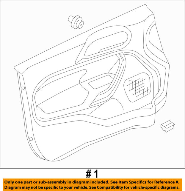 ford oem 11 13 fiesta front door interior trim panel left rh ebay com Ford Wiring Harness Diagrams Ford Parts Diagram