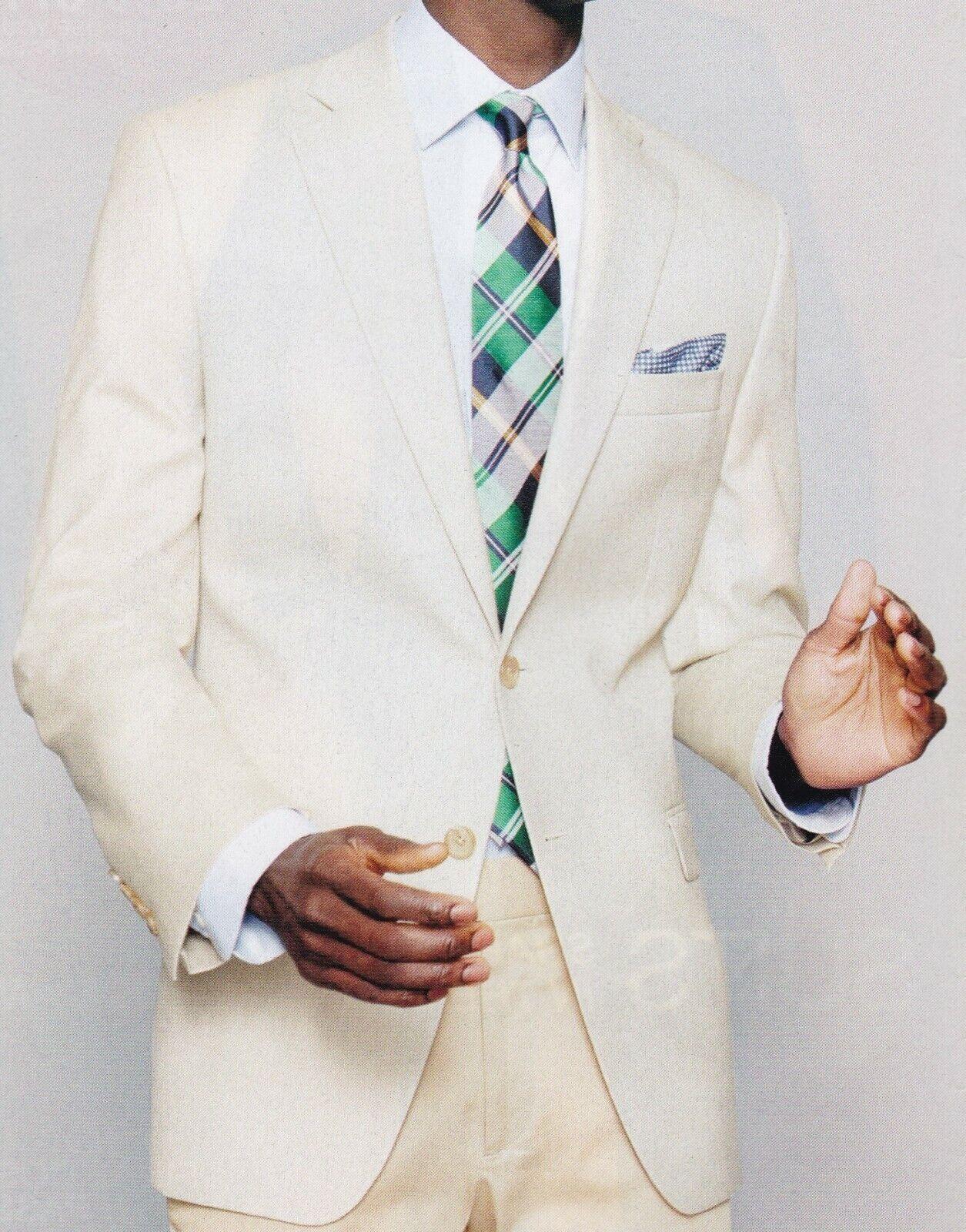 Lauren Ralph Lauren Blazer Größe 38R Männer Wolle Suit Jacket Ultra Tech Vanilla