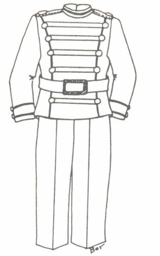 "SEWING PATTERN fits 1516"" DOLL girl boy Soldier uniform 226"