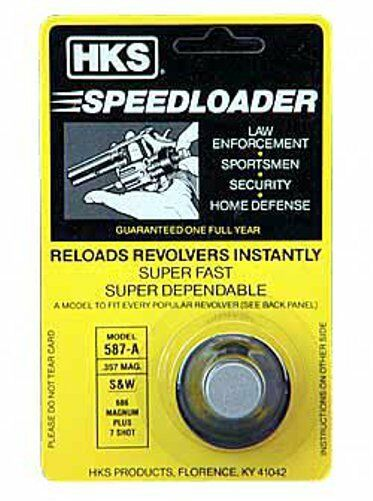 Paquet de 2 Hks 7-shot Chargeur Rapide 357 Magnum Compatible avec S/&W 686 Mag