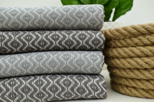100x180 cm Dark Gray and Light Gray Turkish Towel Big Diamond,Iso-Su 40x70 inch