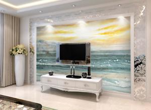 3D Sonnenuntergang Strand 75 Tapete Wandgemälde Tapete Tapeten Bild Familie DE