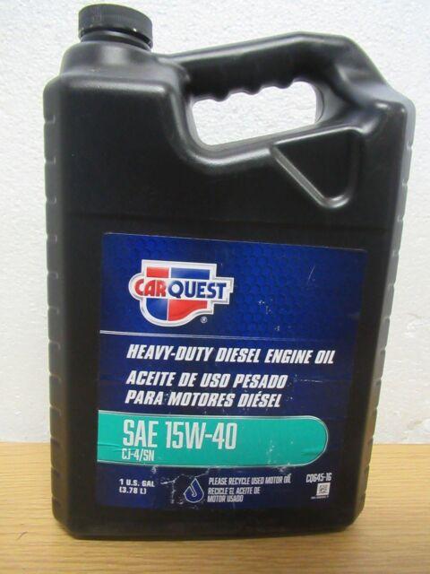 Carquest Heavy Duty Diesel Engine Motor Oil 15w 40 Cj4 Sn 1 Gallon For Sale Online Ebay