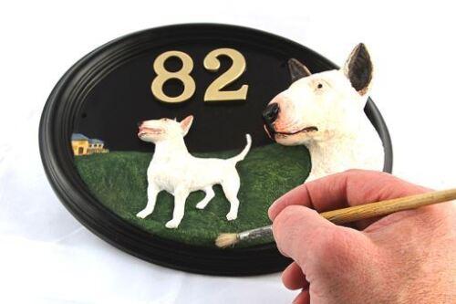 Un Spoiled Bull Terrier vit ici cadeau fait main Bull Terrier Signe//Plaque 231