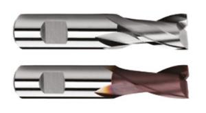 Typ N HSS-Co8 Langlochfräser DIN 327 2-Schneider