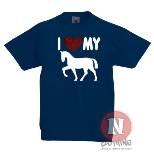 I love my Horse Childrens Kids t-shirt 3-13 years cool equestrian pony riding