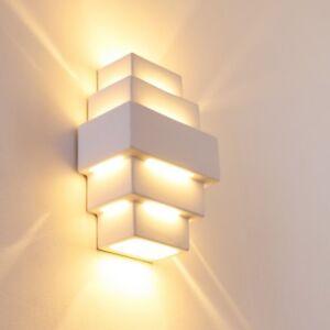 Dettagli su Luce Doppia Parete Gesso Bianco Illuminazione Muro Soggiorno  Salotto Cucina Sala