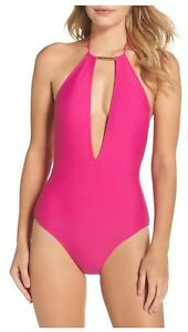 9976dfc2c Image is loading Ted-Baker-London-Halter-One-Piece-Swimsuit-Fuchsia-