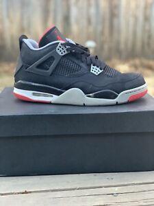 38593567903 Nike Air Jordan Retro 4 Bred (Black Cement Grey-Fire Red) 2012 Size ...